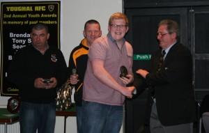 Norman McDonald presents Sean Hogan Award to Chris O'Brien
