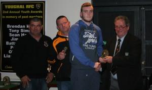 Norman McDonald presents Sean Hogan Award to James Kelly