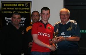 Padjoe Terry presents the Jim Hogan Award to Ryan Thomas